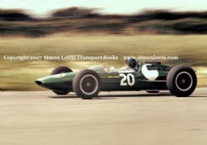 Lotus 25 Jim Clark. Photo British GP 1962 Aintree